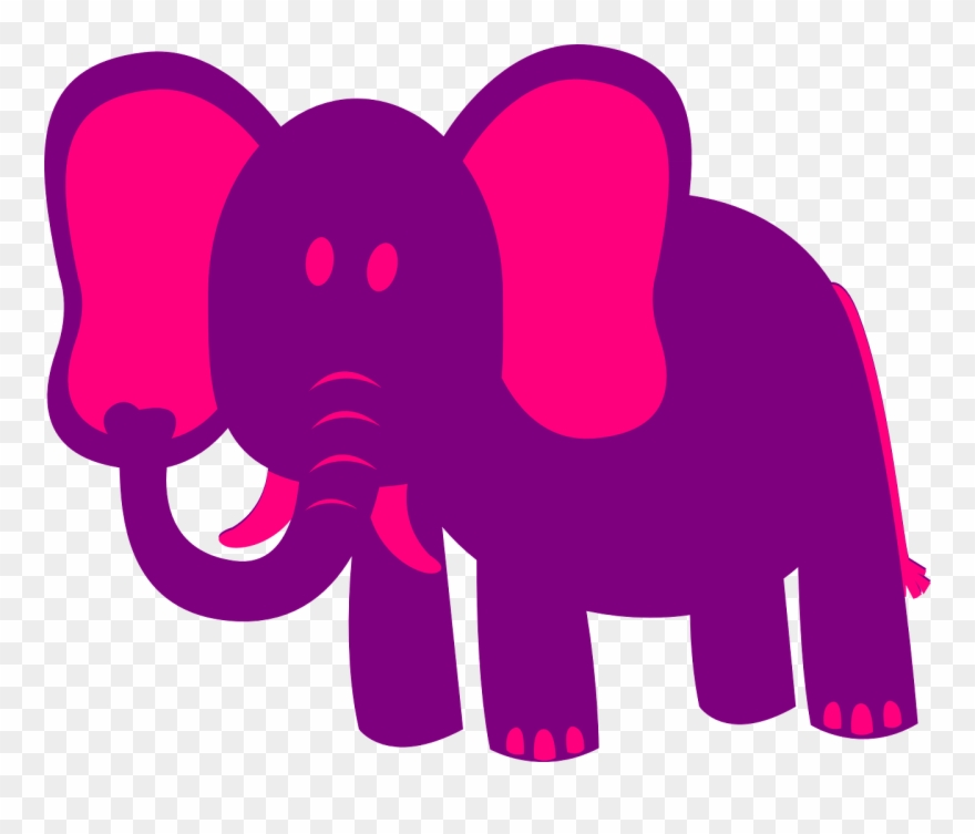 Pink and purple clipart picture transparent stock Pink Elephant Cute - Pink & Purple Cartoon Elephant Mugs ... picture transparent stock