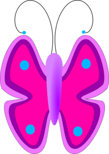 Pink and purple clipart clip transparent stock Pink And Purple Butterfly Top View Clip Art at Clker.com ... clip transparent stock
