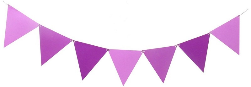 Pink and purple pennant banner clipart clip stock Large Triangle Pennant Banner - Purple Ombre clip stock
