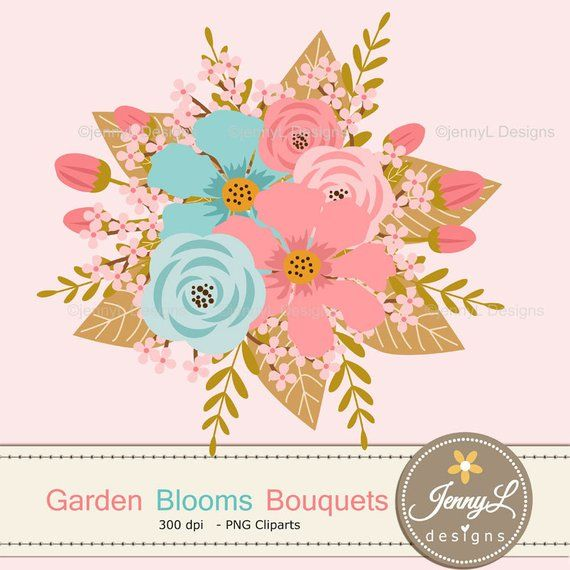 Pink and turquoise wedding bouquet cliparts clip art transparent stock 40% OFF Peach Turquoise Bouquet Clipart, Blush Wedding ... clip art transparent stock