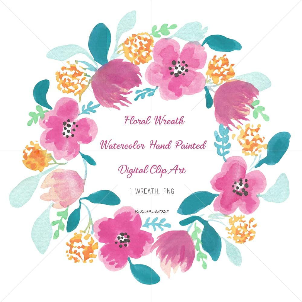 Pink and turquoise wedding bouquet cliparts vector freeuse download VectorMarketNet on Twitter: \