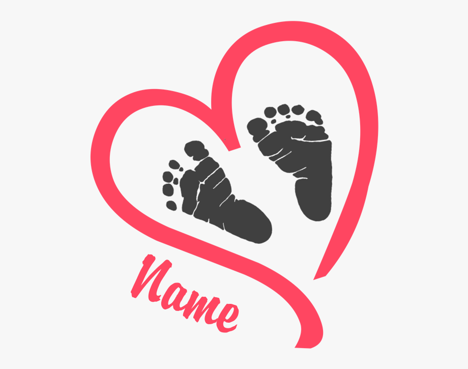 Pink baby feet and heart clipart svg royalty free library Download Hd Baby Feet Pink Personalized Maternity T-shirt ... svg royalty free library