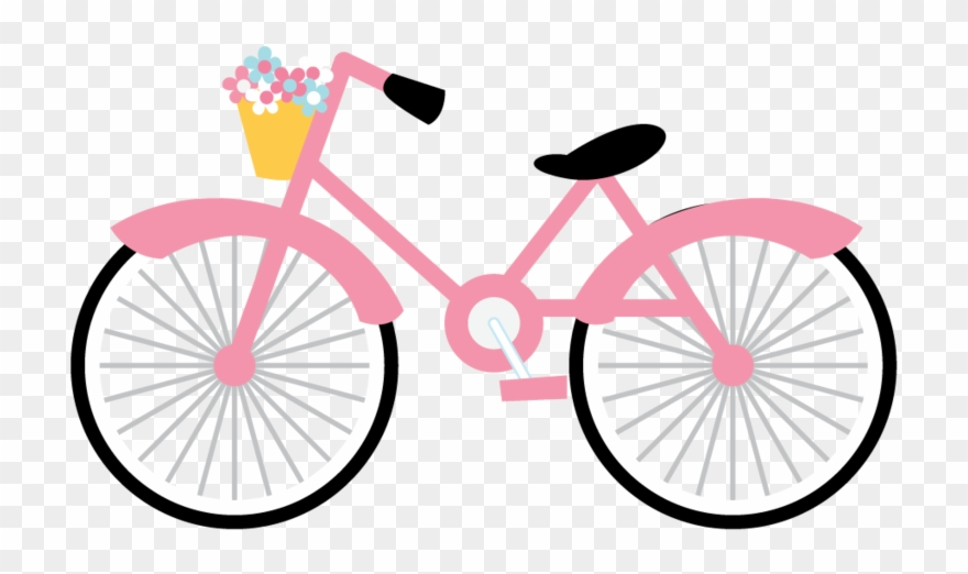 Pink bike clipart jpg free library Paris Clipart, Bike, Bicycle Art, Paris Party, - Pink ... jpg free library