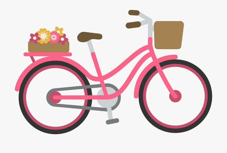 Pink bike clipart clip art black and white Cycle Vector Pink Bike - Bicycle #938272 - Free Cliparts on ... clip art black and white