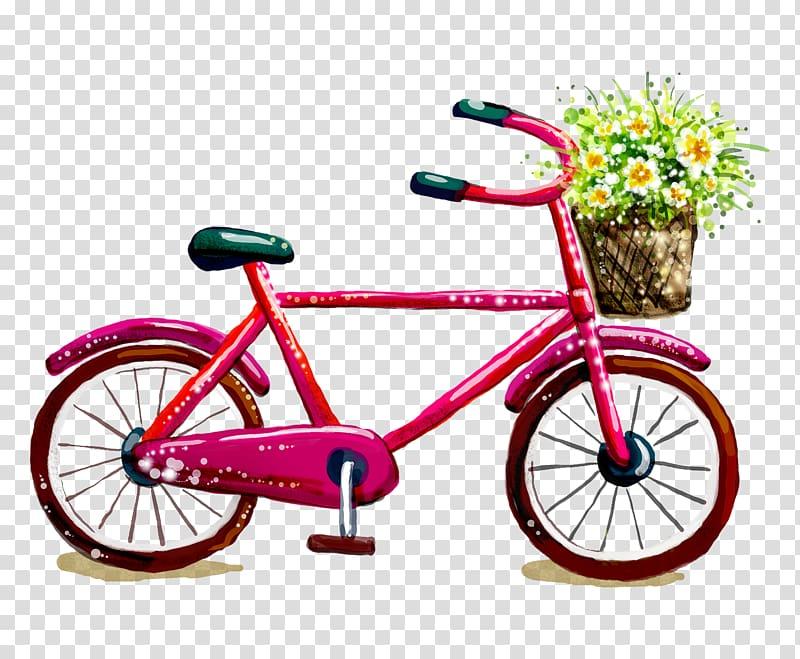 Pink bike clipart jpg black and white stock Bicycle frame Bicycle wheel Bicycle saddle Road bicycle ... jpg black and white stock