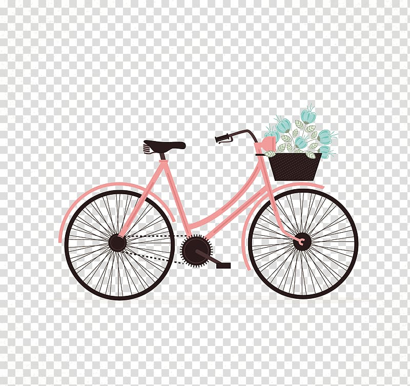 Pink bike clipart clip art royalty free stock Life is like riding a bicycle. To keep your balance you must ... clip art royalty free stock