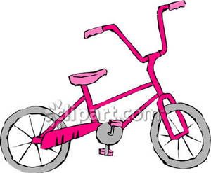 Pink bike clipart graphic free library A Pink Bike - Royalty Free Clipart Picture graphic free library