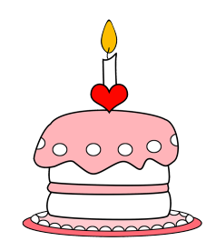 Pink birthday cake clip art jpg freeuse library Birthday Clip Art and Free Birthday graphics jpg freeuse library