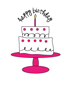 Pink birthday cake clip art transparent Pink Birthday Clipart - Clipart Kid transparent