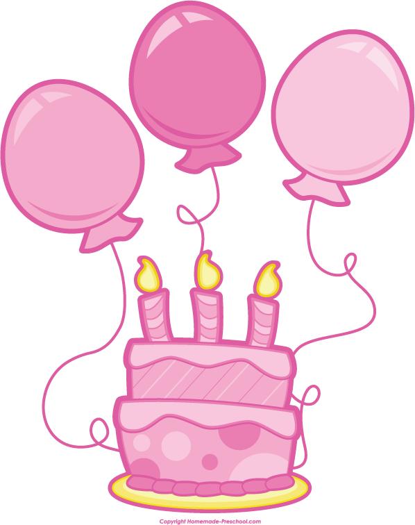 Pink birthday cake clip art royalty free Pink Birthday Cake Clipart - Clipart Kid royalty free