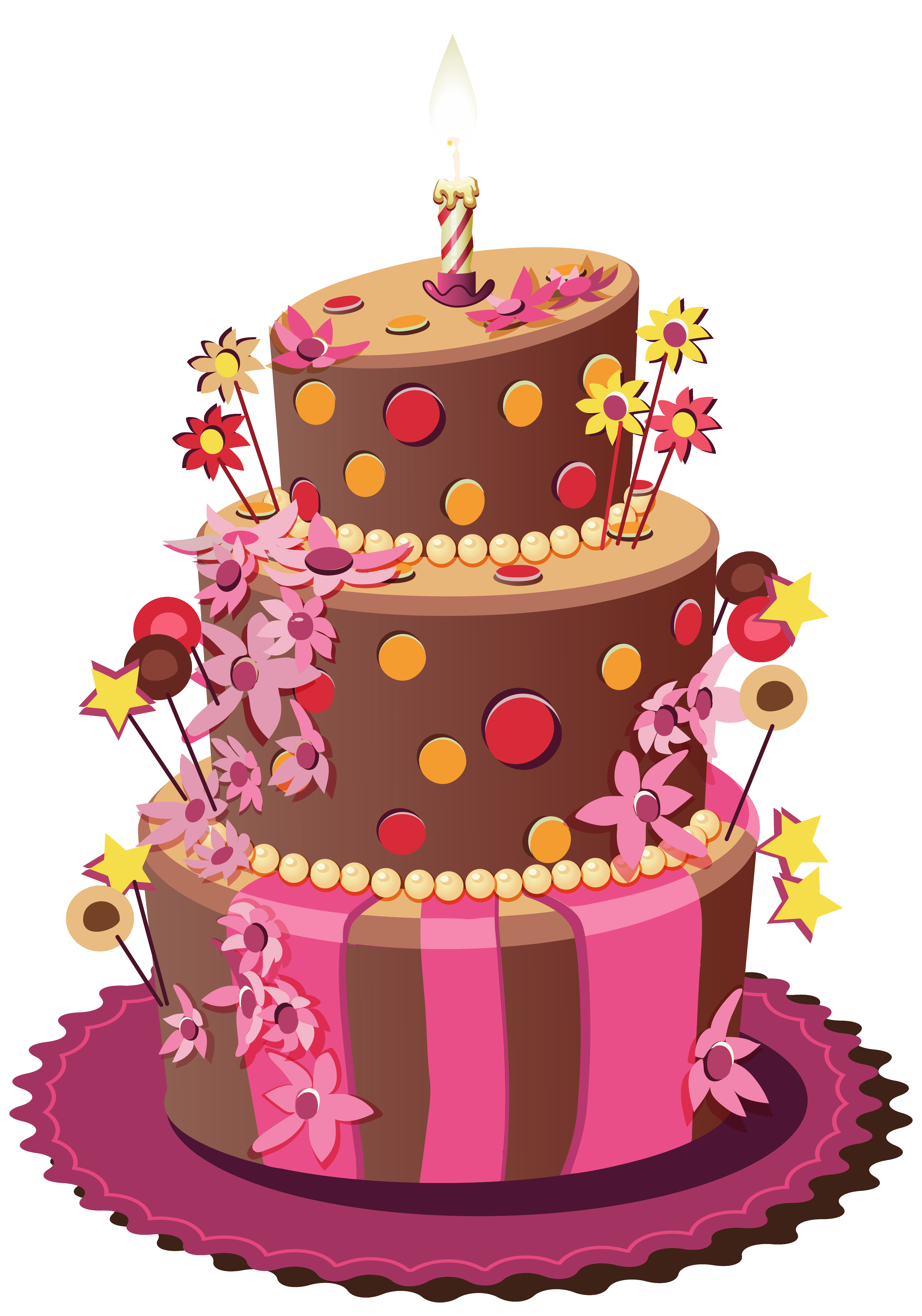 Pink birthday cake clipart graphic royalty free stock Birthday cake Wedding cake Sugar cake Torte - Birthday Cake PNG ... graphic royalty free stock