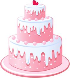 Pink birthday cake clipart banner free stock Cute Birthday Cake Clipart | Gallery Free Clipart Picture… Cakes ... banner free stock