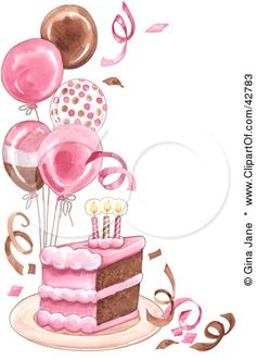 Pink birthday cake clipart clip free download Cute Birthday Cake Clipart | Gallery Free Clipart Picture… Cakes ... clip free download