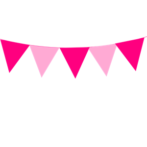 Pink bunting clipart graphic Pink Bunting clipart, cliparts of Pink Bunting free download ... graphic