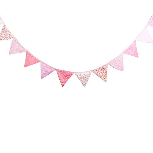 Pink bunting clipart picture library library Pink Bunting Flags: Amazon.co.uk picture library library