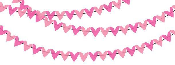 Pink bunting clipart graphic royalty free stock Pink Bunting Banner Clipart Pack graphic royalty free stock