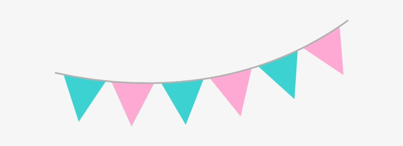 Pink bunting clipart clip Pink Teal Bunting Clip Art At Clker - Pink And Blue Bunting ... clip
