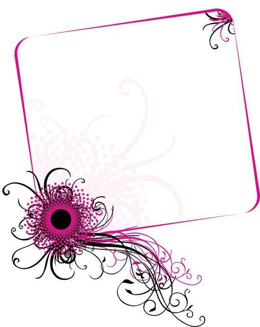 Pink burst corner clipart free svg black and white download Swirling Corner Floral Frame | swirls | Vector design ... svg black and white download