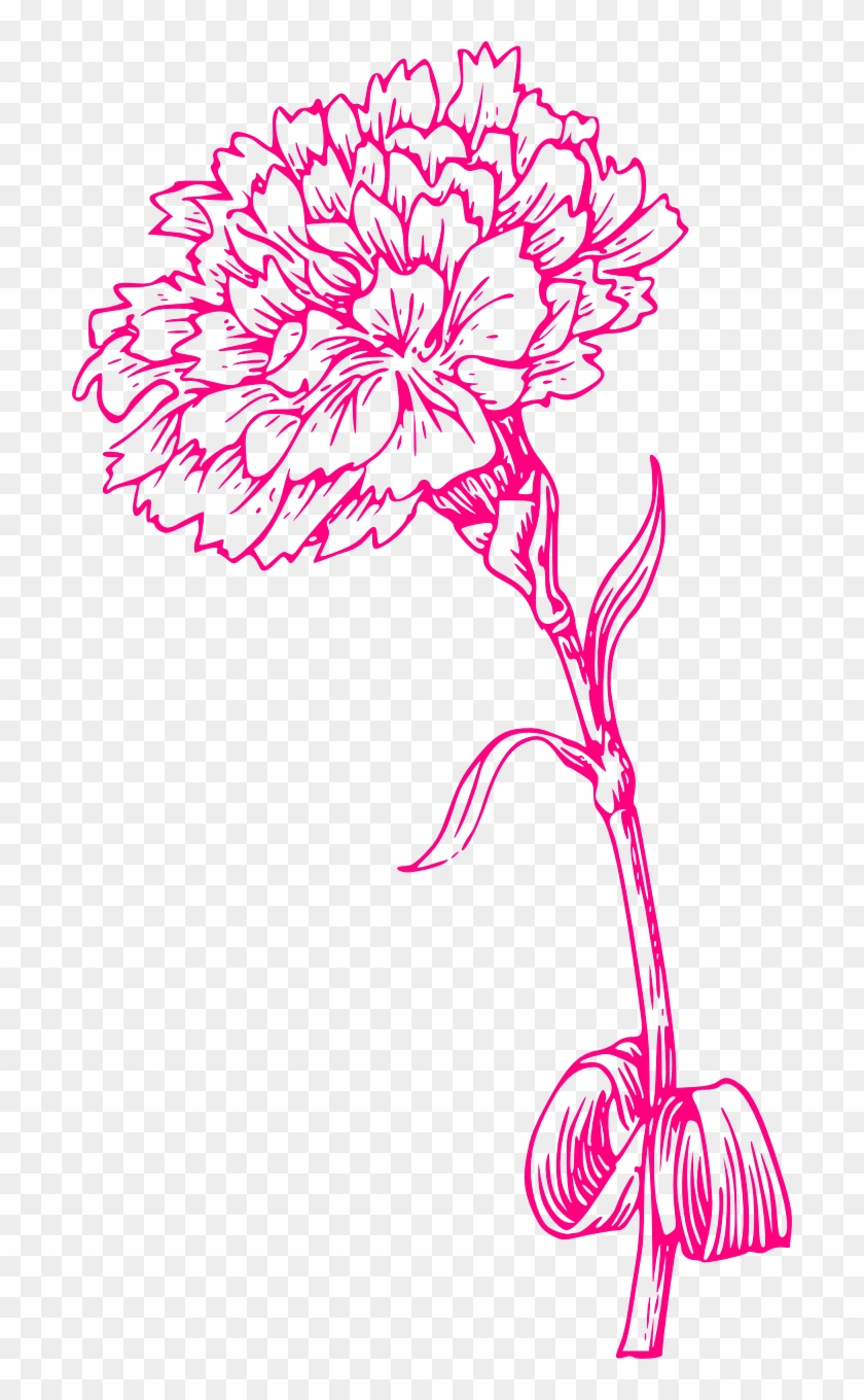 Pink carnation clipart svg black and white library Flower Print Pink Carnation Png Image - Carnation Clipart ... svg black and white library
