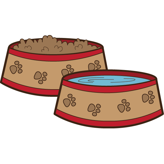 Pink cat food bowl clipart clip royalty free The Pet House clip royalty free