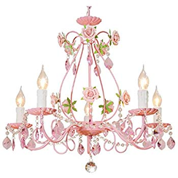 Pink chandelier clipart svg royalty free stock Bagood Gypsy Pink Flowers Crystal Chandeliers Fixture E14 Modern Wrought  Iron Rose Restaurant Bedroom Living Room Hanging Lamp svg royalty free stock