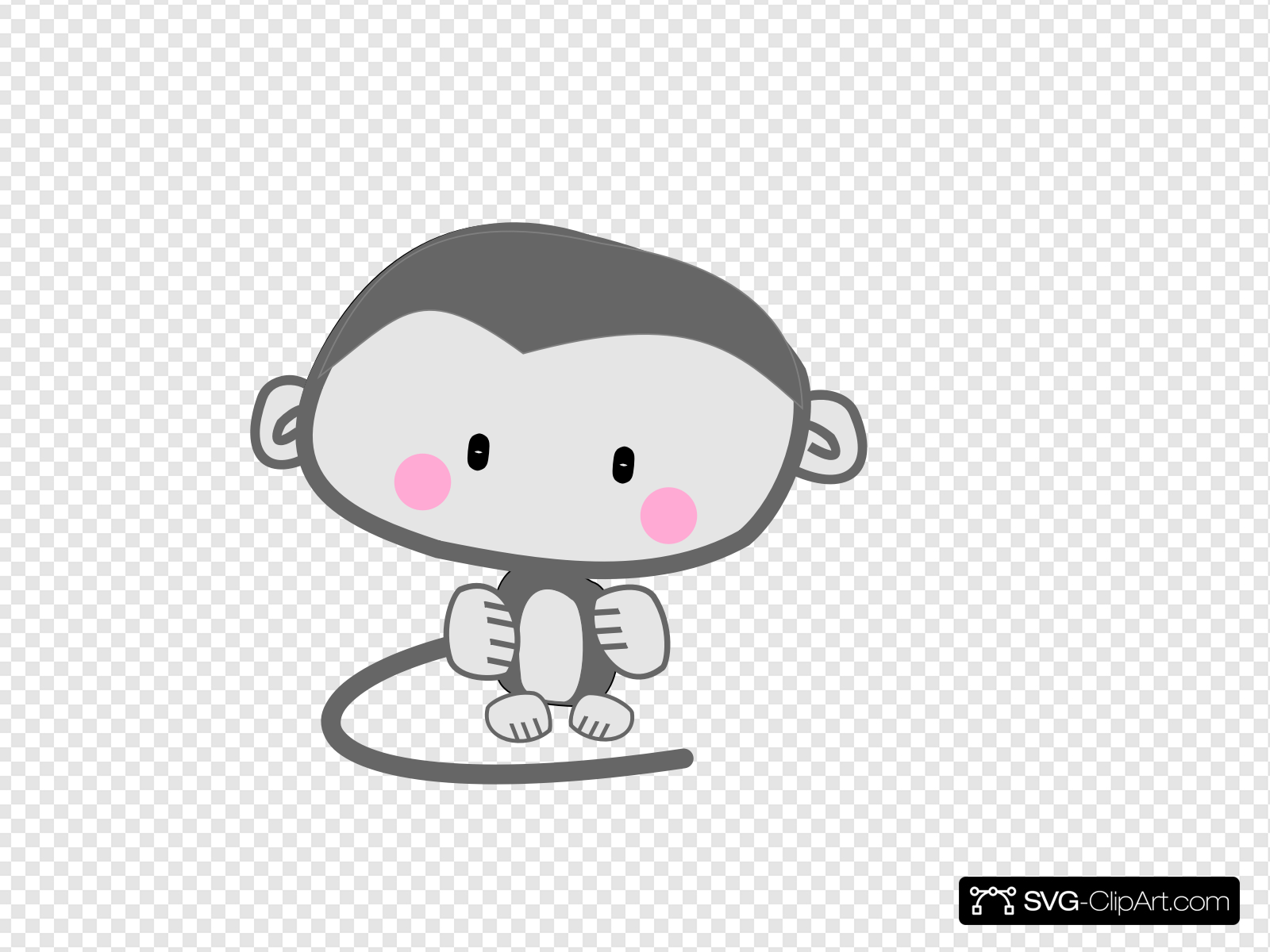 Pink cheeks clipart image royalty free stock Monkey Pink Cheeks Clip art, Icon and SVG - SVG Clipart image royalty free stock