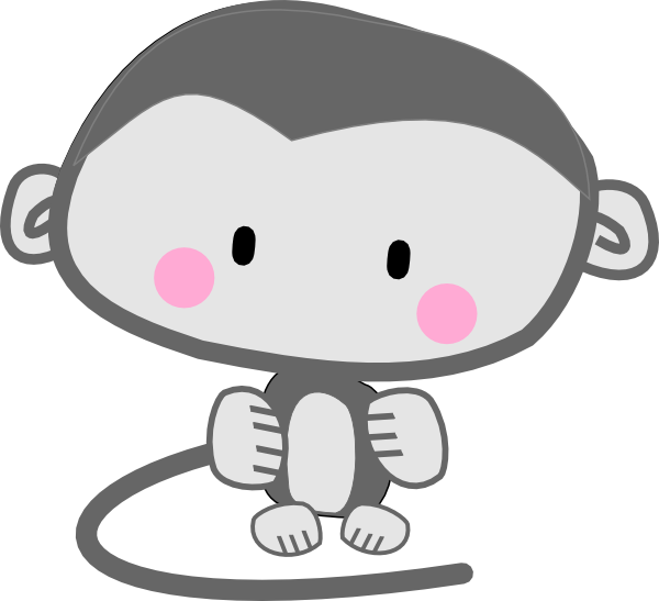Pink cheeks clipart picture library library Monkey Pink Cheeks Clip Art at Clker.com - vector clip art ... picture library library