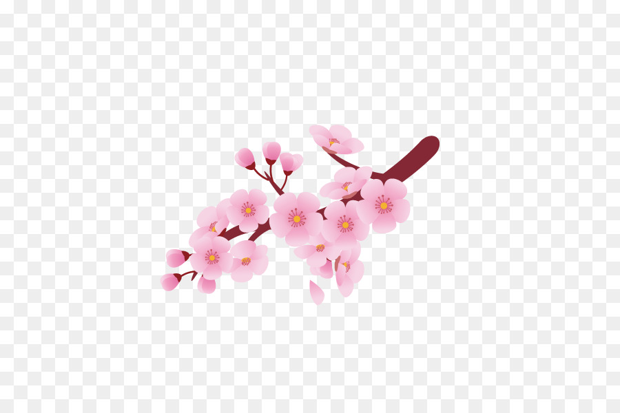 Pink cherry blossoms clipart jpg free Cherry Blossom Background png download - 600*600 - Free ... jpg free