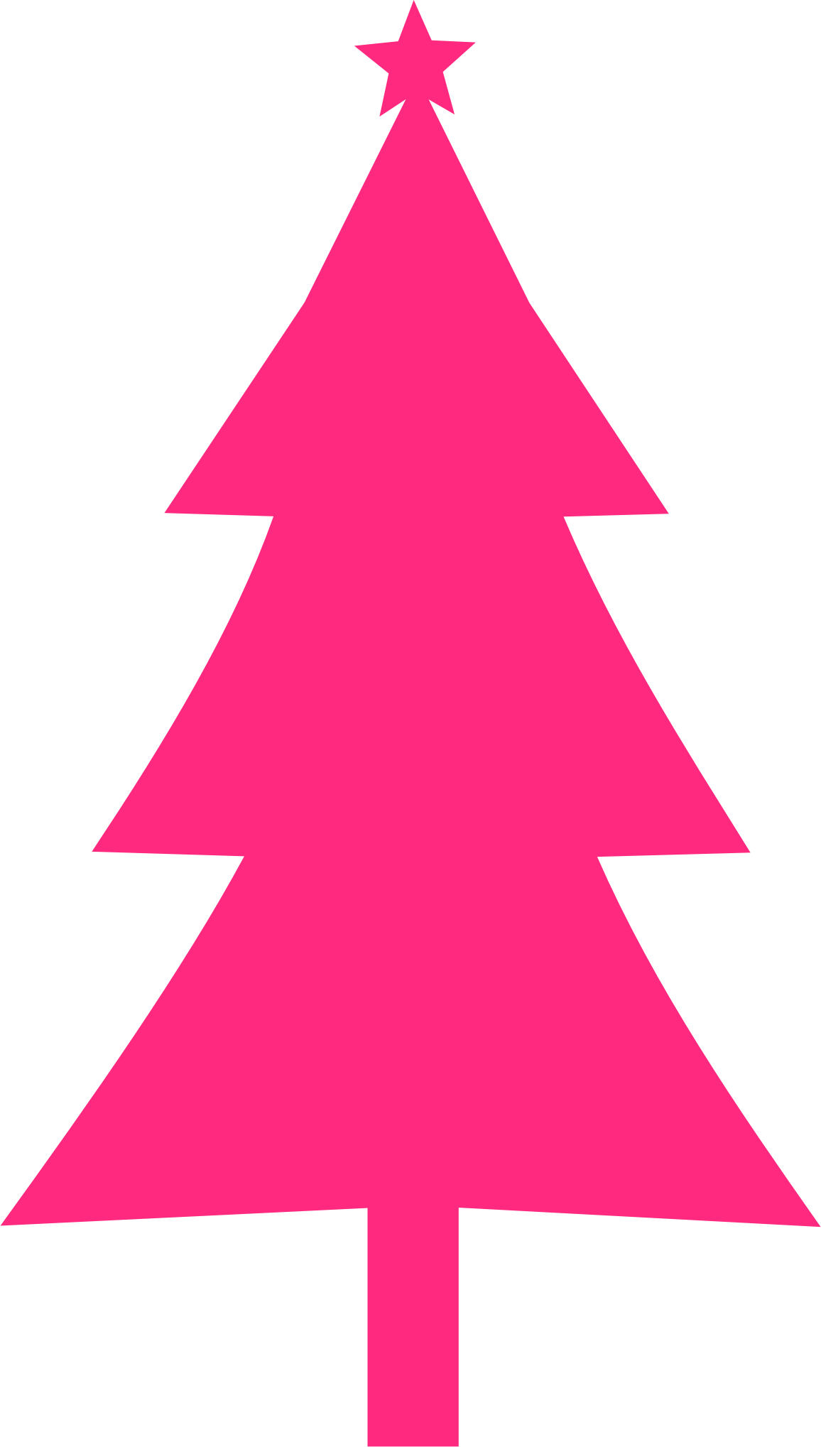 Pink christmas tree clipart vector transparent stock Clipart - Christmas tree Silhouette vector transparent stock