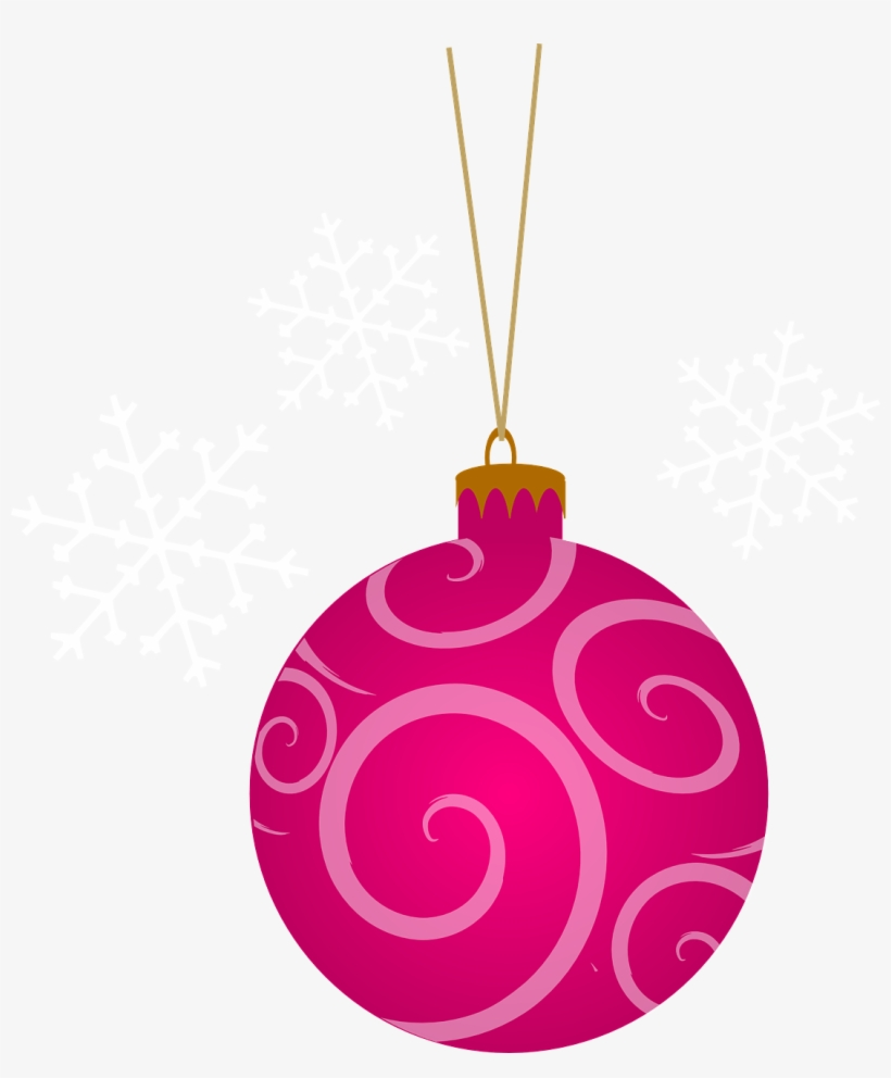 Pink christmas ornaments clipart clip transparent stock Clipart Pink Christmas Tree - Pink Christmas Ornaments ... clip transparent stock