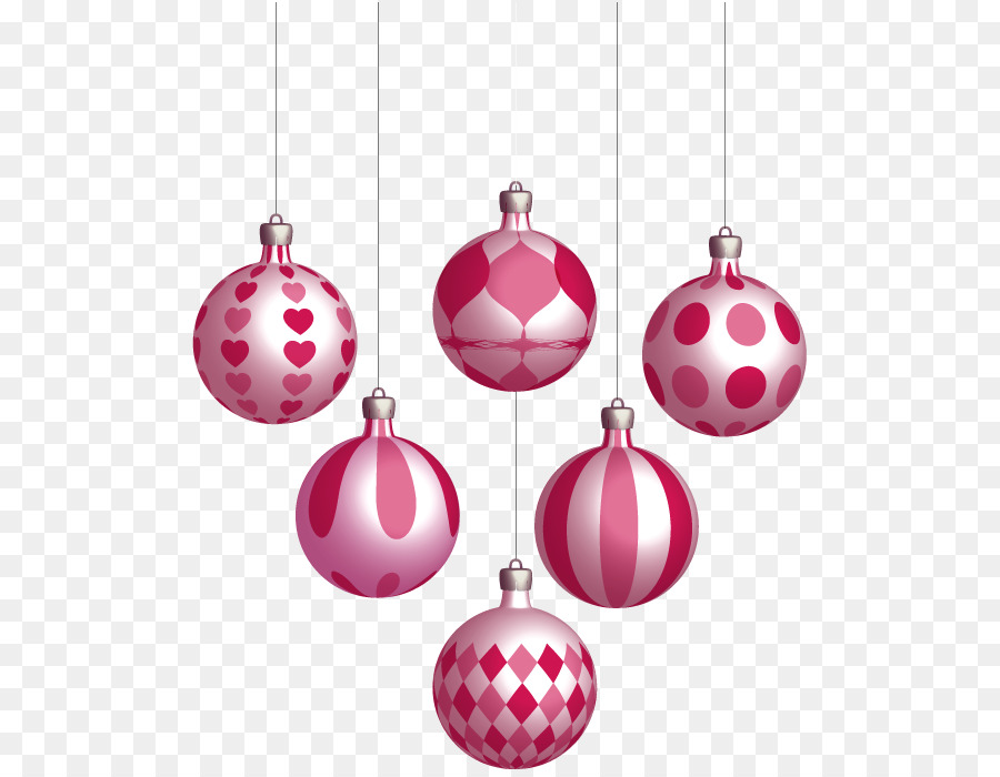Pink christmas ornaments clipart graphic download Christmas And New Year Background png download - 555*695 ... graphic download