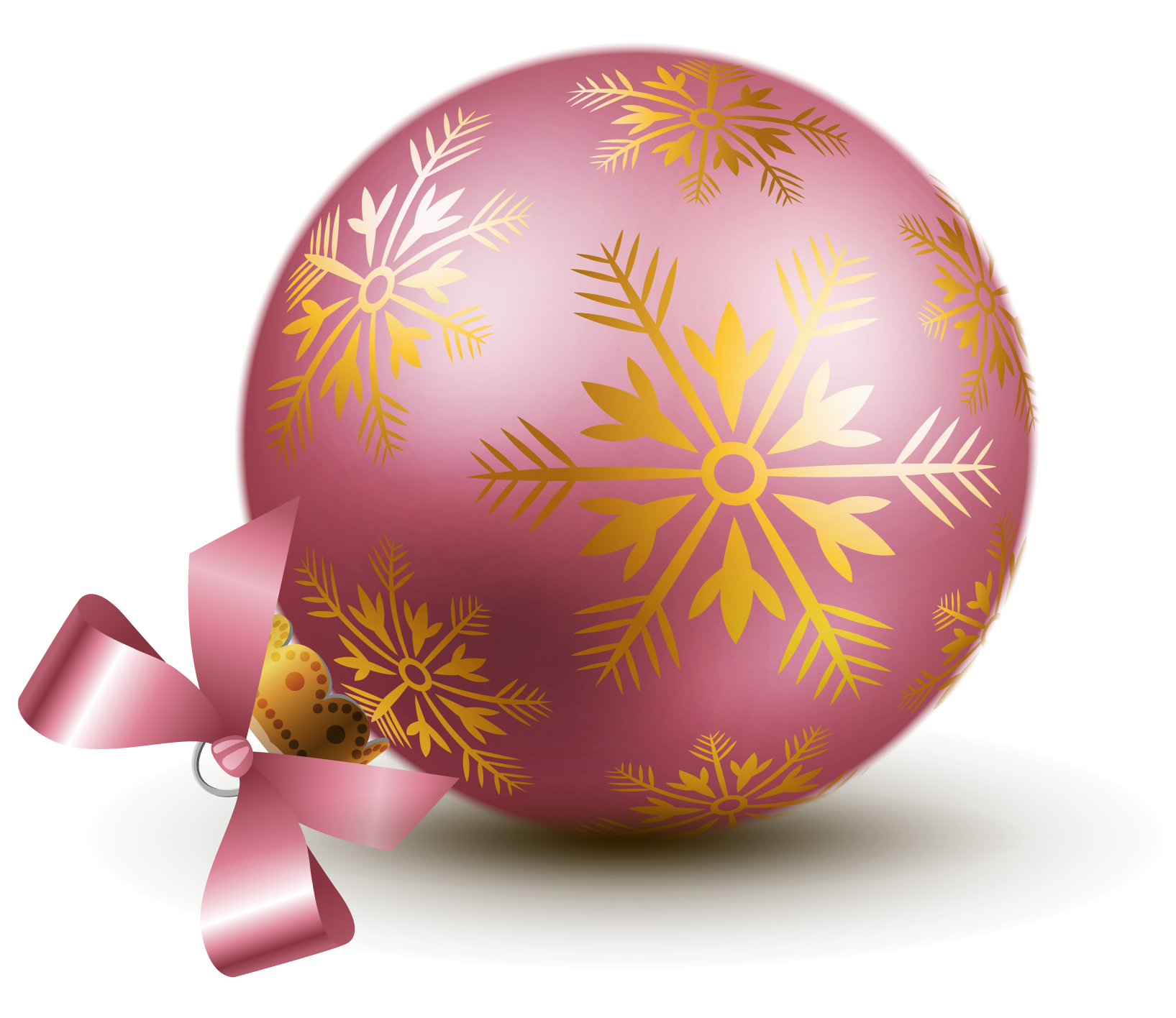 Pink christmas ornaments clipart jpg royalty free download Transparent Pink Christmas Ball Ornaments Clipart   Gallery ... jpg royalty free download