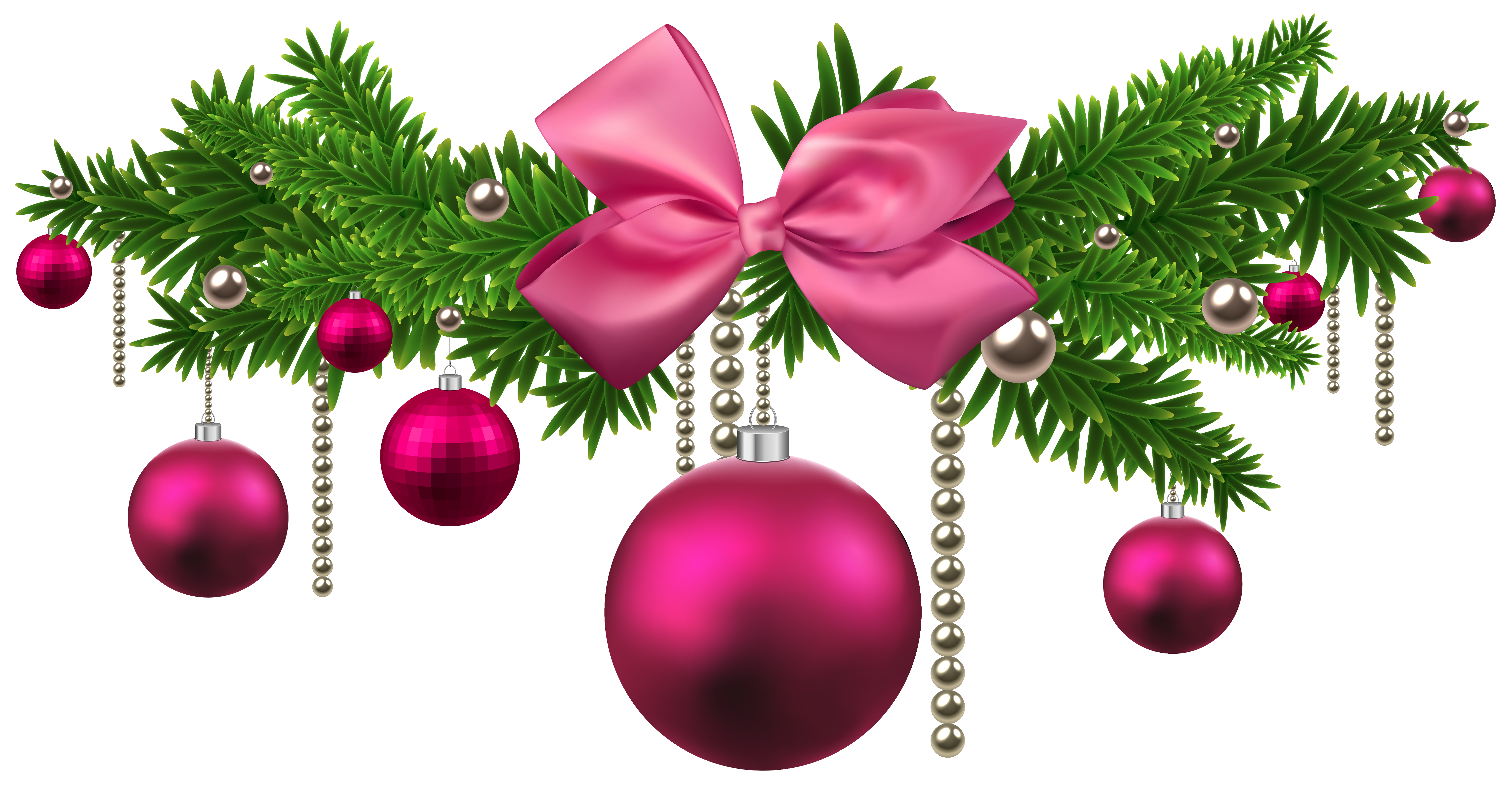 Pink christmas tree clipart picture stock Pink Christmas Balls Decoration PNG Clipart | Gallery Yopriceville ... picture stock