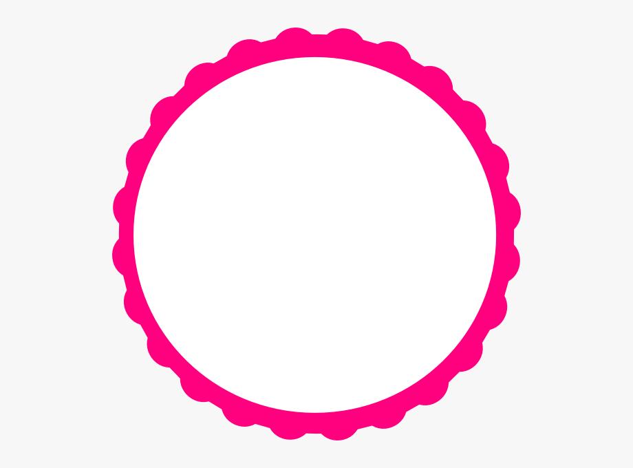 Pink circle clipart transparent library Pink Scallop Circle Frame Clip Art At Clker - Circle Border ... transparent library