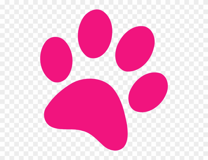 Pink clipart graphic royalty free Pink Clipart Paw Print - Hot Pink Paw Print - Png Download ... graphic royalty free