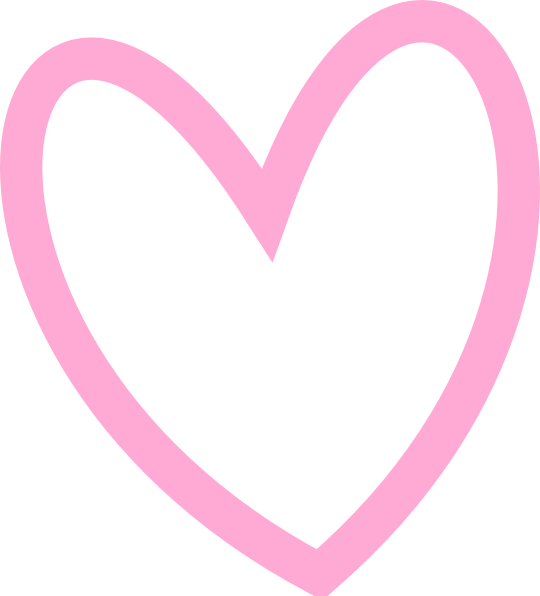 Pink heart outline clipart banner library Slant Pink Heart Outline Clip Art at Clker.com - vector clip art ... banner library