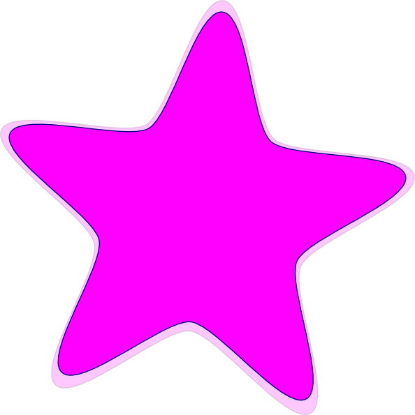 Pink star clipart vector freeuse stock Pink Star Clip Art at Clker.com - vector clip art online, royalty ... vector freeuse stock