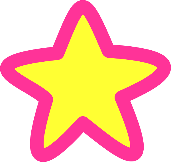 Pink star clipart png free Pink Yellow Star Clip Art at Clker.com - vector clip art online ... png free