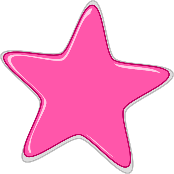 Pretty star clipart svg library stock pink-star-edited2-clip-art-at-clker-com-vector-clip-art-online ... svg library stock