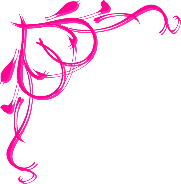 Pink corner border clipart jpg freeuse download Pink Flower Border   Pink Heart Border clip art - vector ... jpg freeuse download