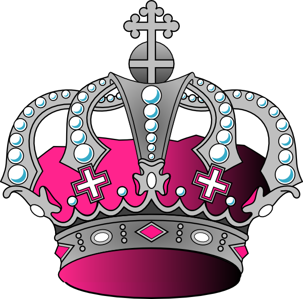 Silver crown clipart png jpg stock Silver Pink Crown Clip Art at Clker.com - vector clip art online ... jpg stock