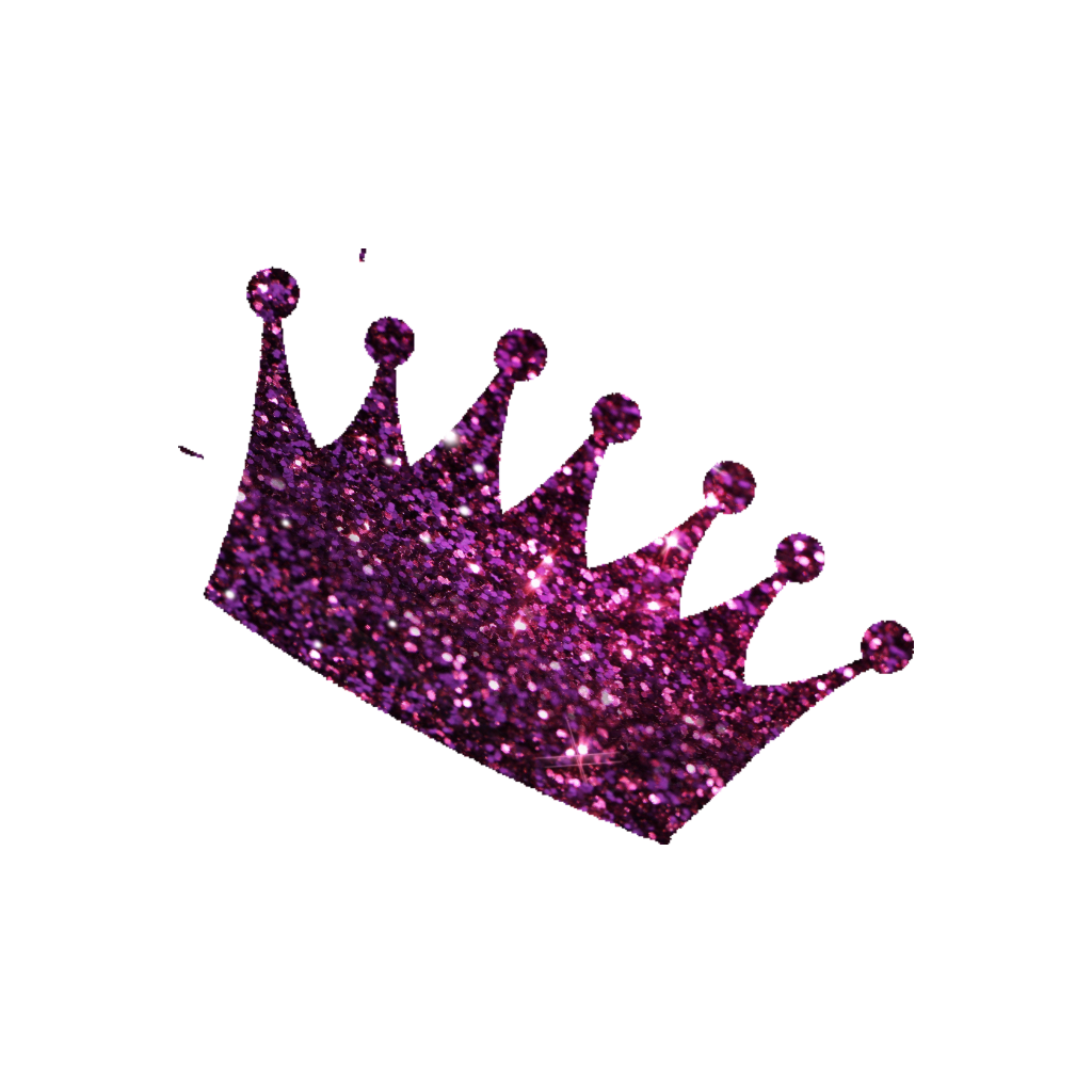 Pink glitter crown clipart image free library crown glitter glittery remixit freetoedit... image free library