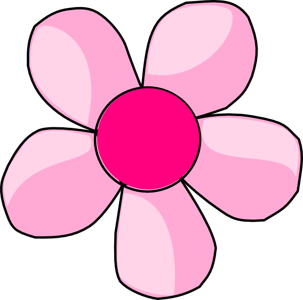 Pink daisy flower clipart png black and white Pink Daisy Clip Art at Clker.com - vector clip art online, royalty ... png black and white