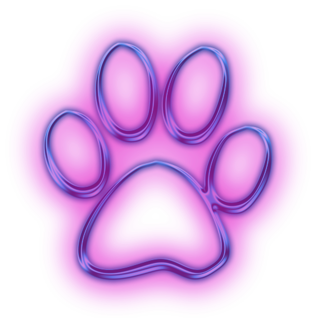 Pink dog bone clipart png royalty free library Neon clipart dog paw #2400081 - free Neon clipart dog paw #2400081 ... png royalty free library