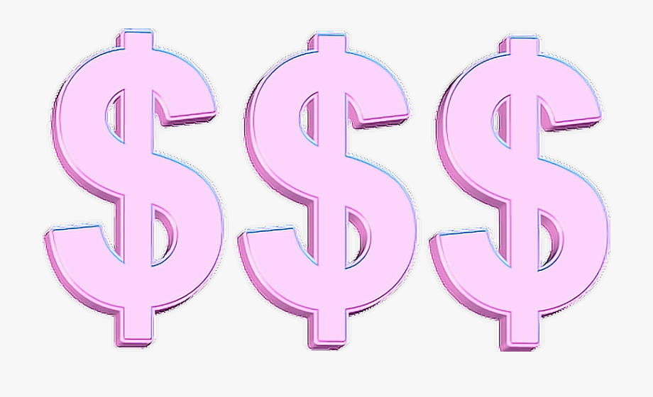 Pink dollar sign clipart clip transparent Dollar Clipart Tumblr Money - Pink Money Sign Gif ... clip transparent