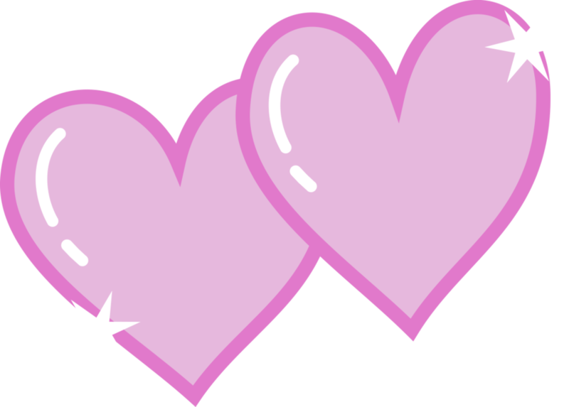 Pink double heart clipart jpg black and white library Image - Double heart cutie mark.png | Bronies Wiki | FANDOM powered ... jpg black and white library