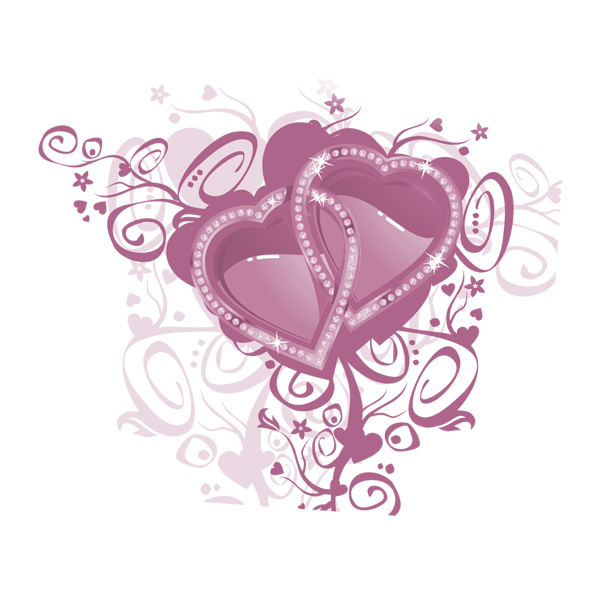 Pink double heart clipart clip royalty free download Love letter Desktop Wallpaper High-definition television - Double ... clip royalty free download