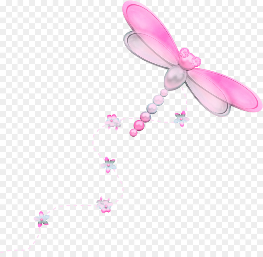Pink dragonfly clipart