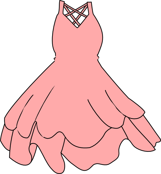 Pink dress clipart clip black and white download Pink Dress Clip Art at Clker.com - vector clip art online ... clip black and white download