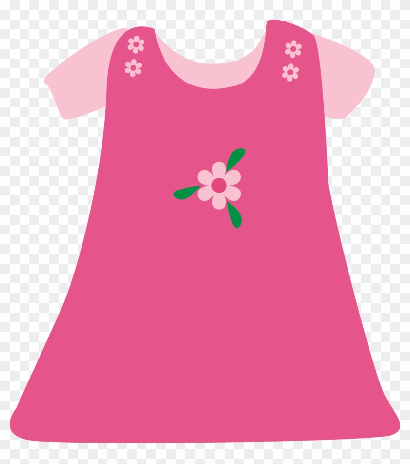 Pink dress clipart svg black and white library Pink Dress Clipart Infant Clothes - Children\'s Clothes Clip ... svg black and white library